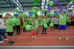 Einlaufrunde zum Down-Sportlerfestival 2019