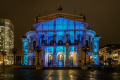 Illuminierte Alte Oper Luminale 2020 (Generalprobe)