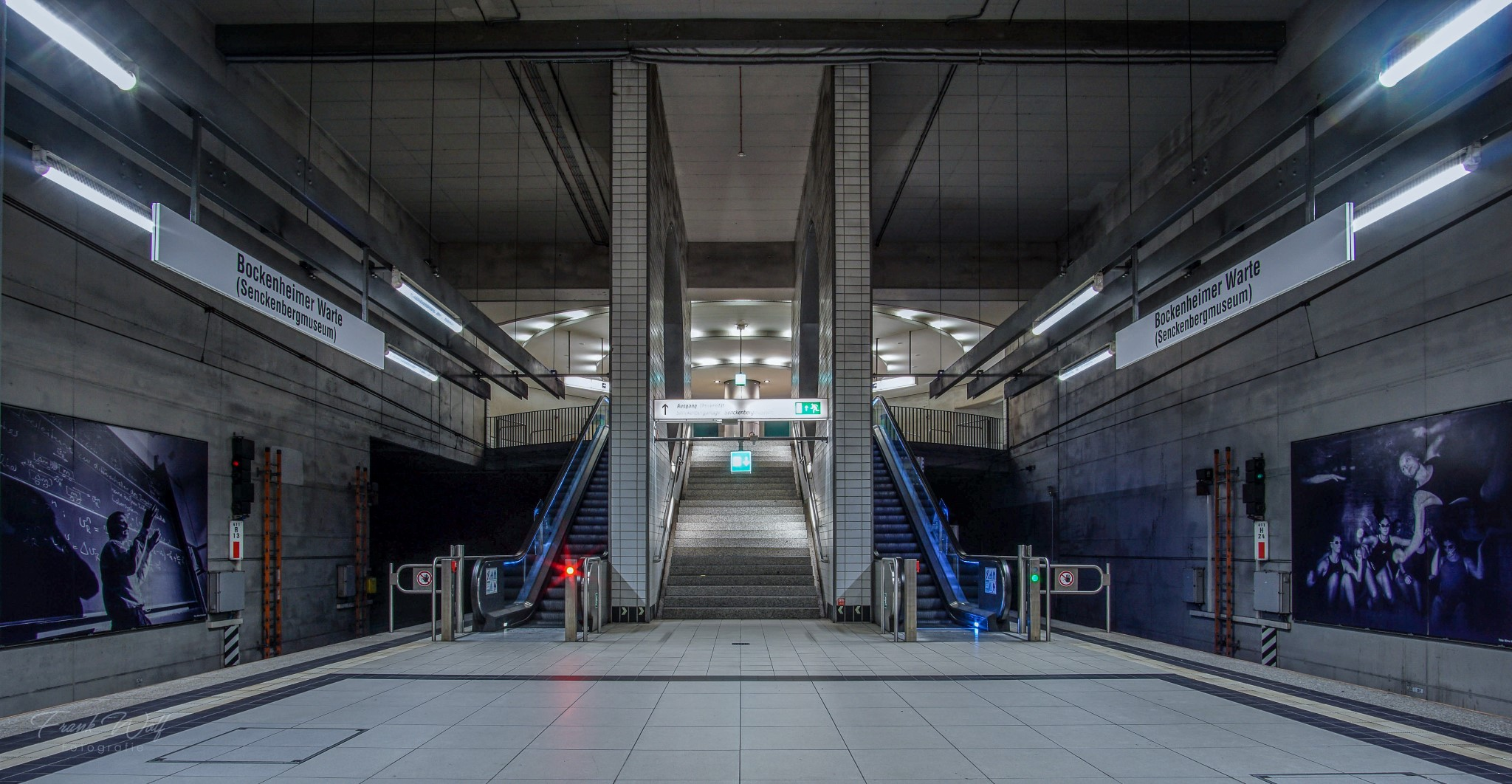 Ubahn Station Bockenheimer Warte Frankfurt