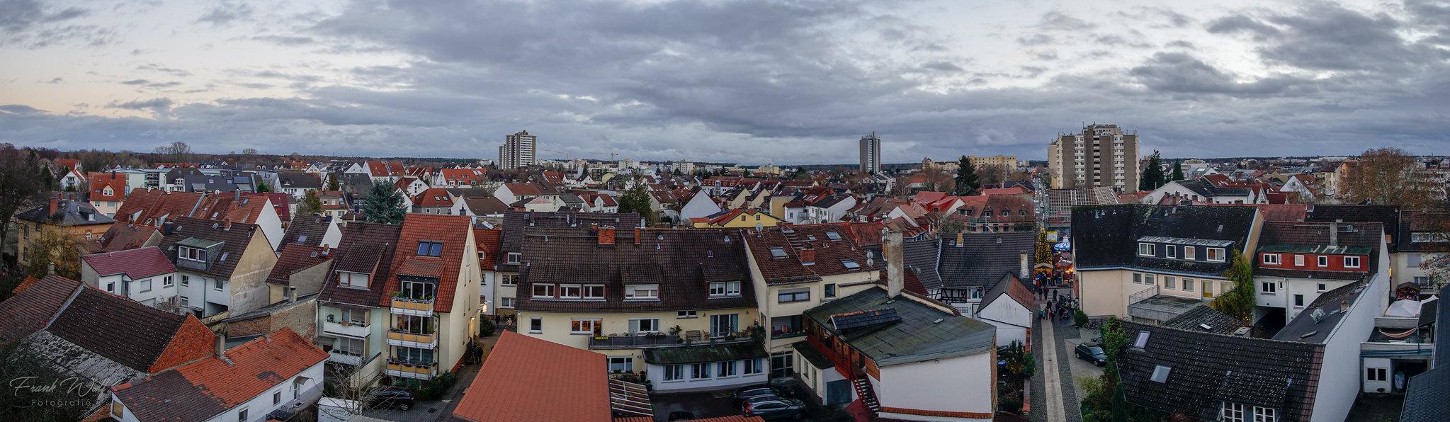 Panorama - Ausblick von der Kuppel der Marktplatzkirche 08.12.2018